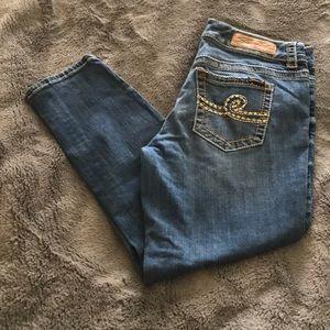 Seven 7 Skinny Distressed Crop Jean Size 10